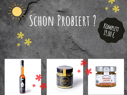 Schon Probiert/ Kräuteroel/Parmesan Blend/Craved Lachs Gourmet Sauce
