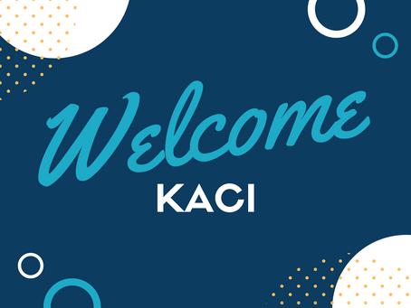 Welcome, Kaci!