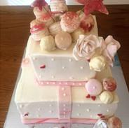 Square surprise cake