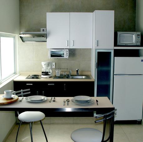 Cocina Integrada en todos los Lofts.