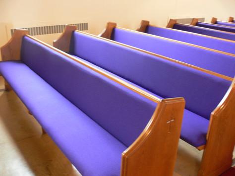 Old Church Pew Cushions: Keep Them or Dump Them?!