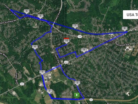 Running Route - 40 Miles