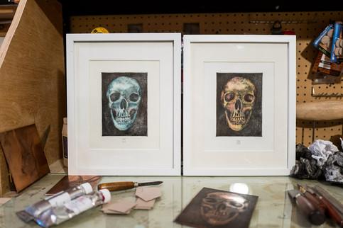 2つの頭蓋骨