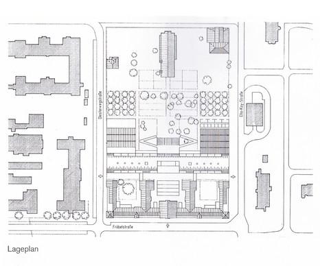 クランケンハウス、プレンツラウアーベルク-サイト計画