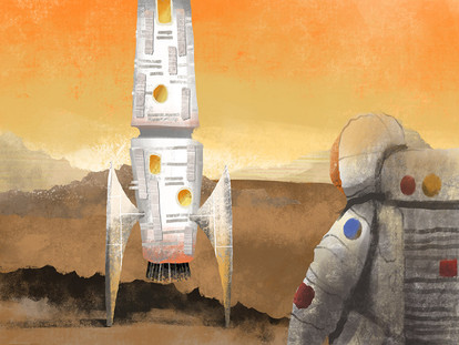 Rocket Man Scene on Mars