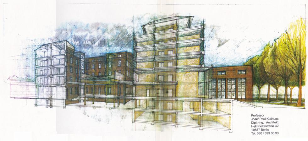 Krankenhause, Prenzlauerberg - Sectional Perspective