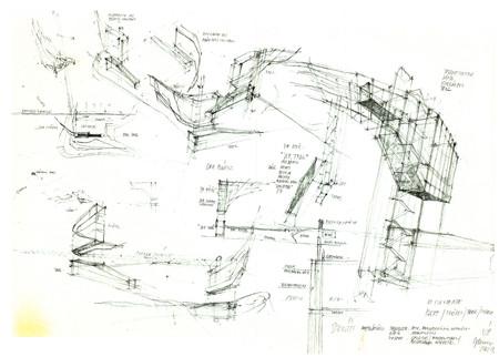 Concept Sketch by Günther Domenig
