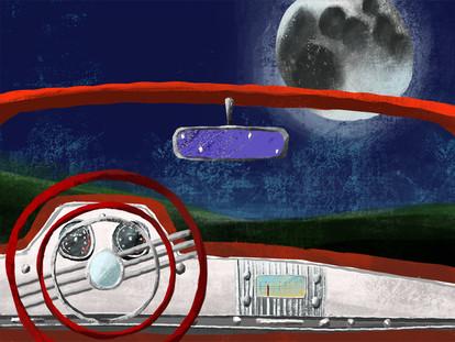 Rocket Man Inside Car Scene