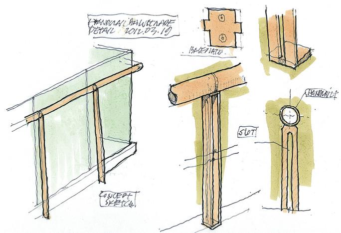 Stair Handrail Detail