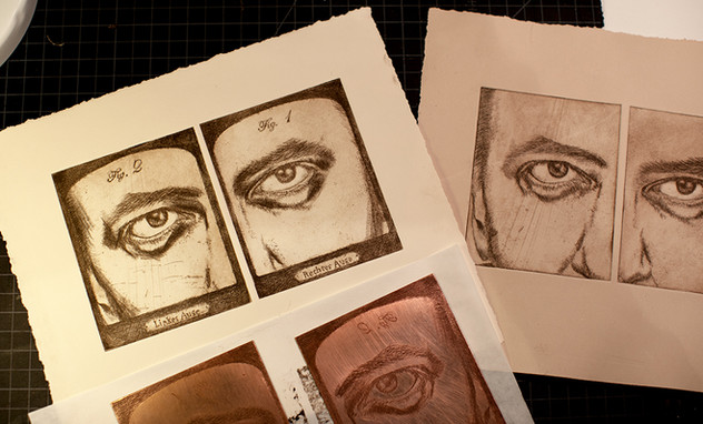 Left and Right Eye - Self-Portrait