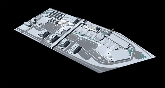 3D model of site massing