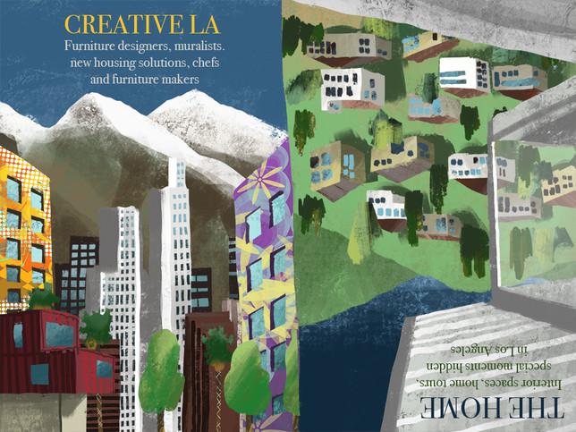 LA Home Magazine Illustration