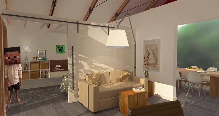 ローマの寝室-レンダリング
