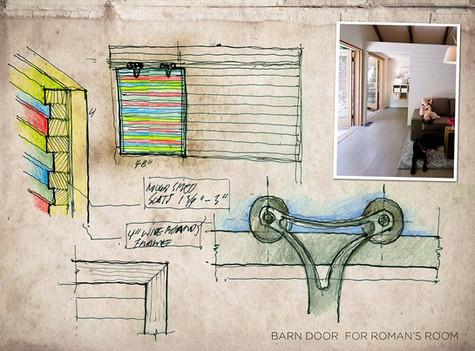 ローマの寝室-納屋のドア