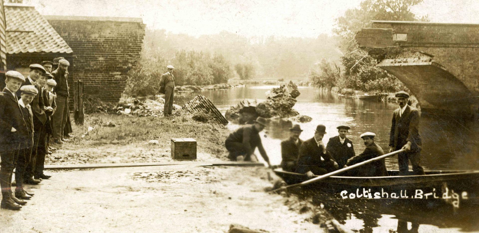 A Damaged Coltishall Bridge after the 1912 flood