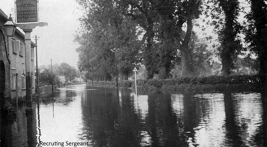 The Recruiting Sergeant at Coltishall during the 1912 flood