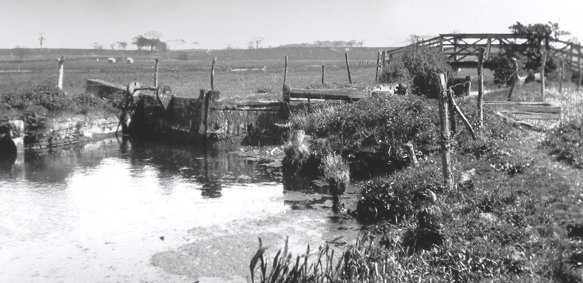 Burgh Lock after the 1912 flood