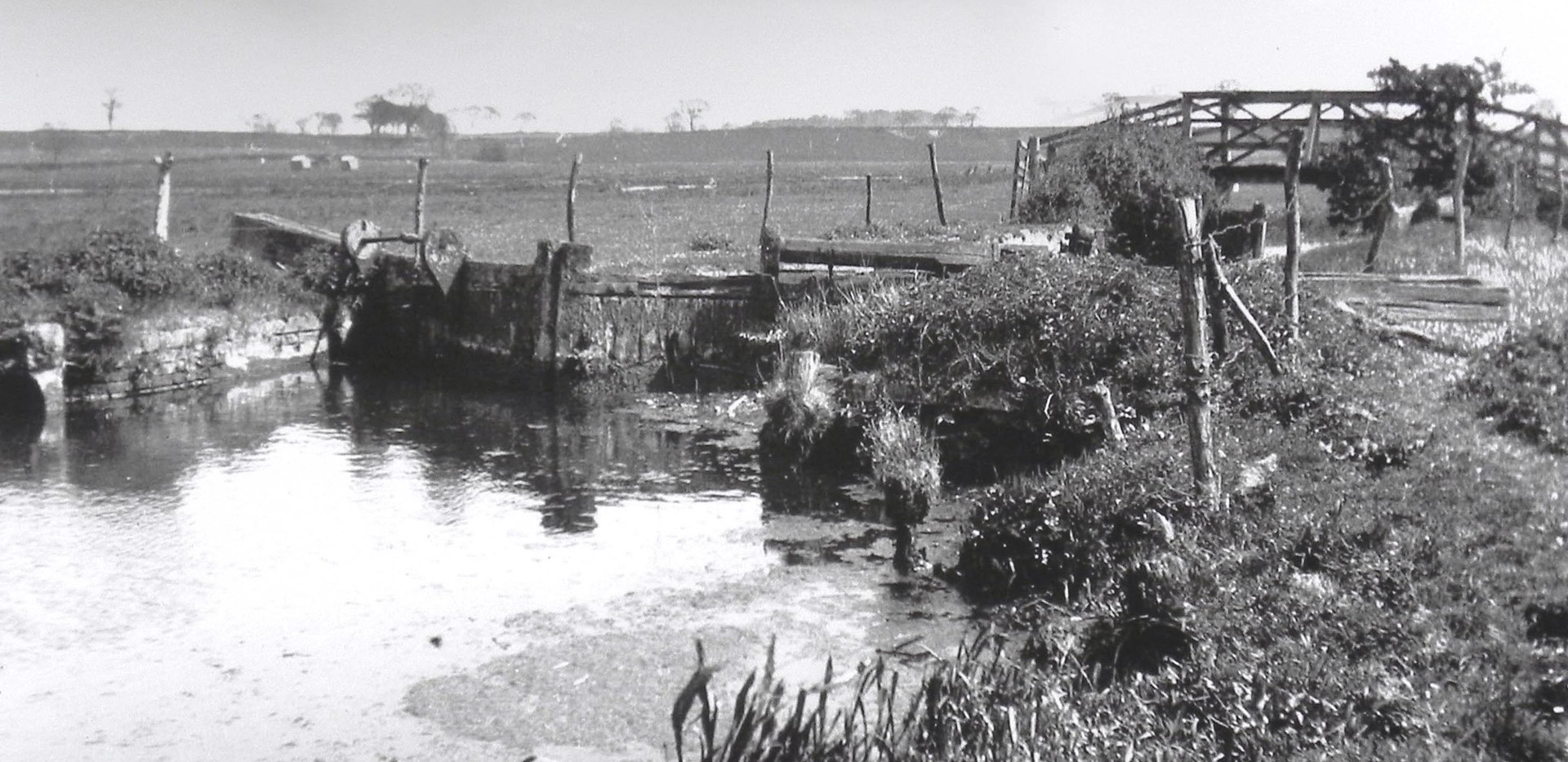 Burgh Lock after the 1912 flood