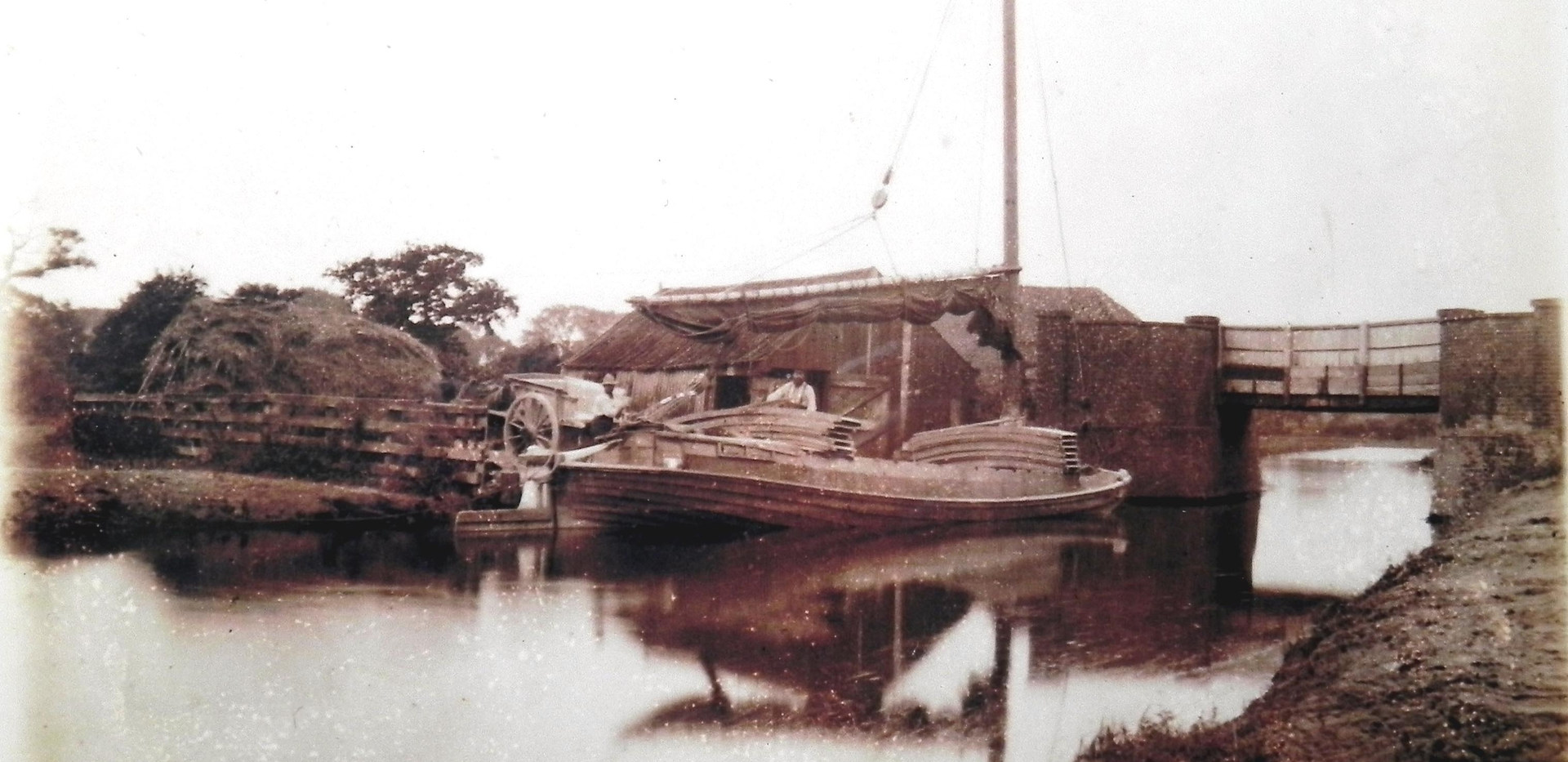 A Wherry at Burgh Road Bridge Staithe