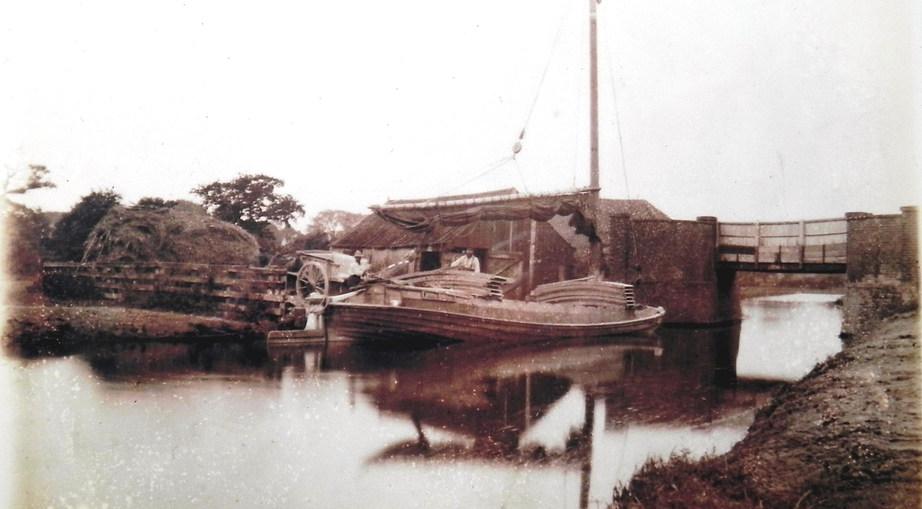 A Wherry at Burgh Road Bridge Staithe