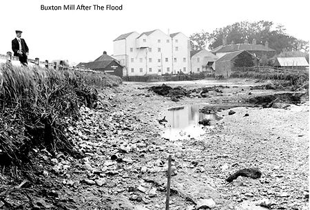 Buxton Mill after the 1912 flood