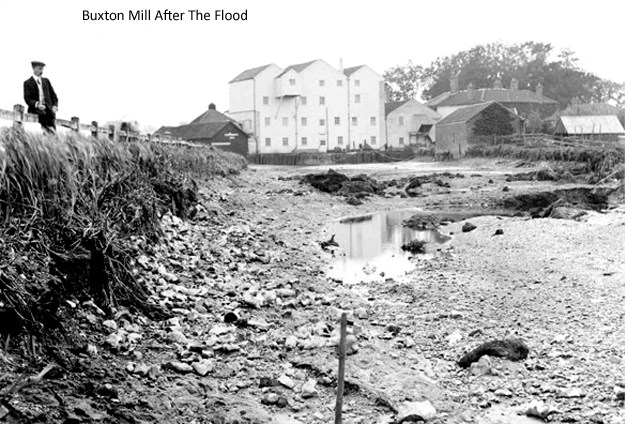 Mill Reach at Buxton Mill after the 1912 flood