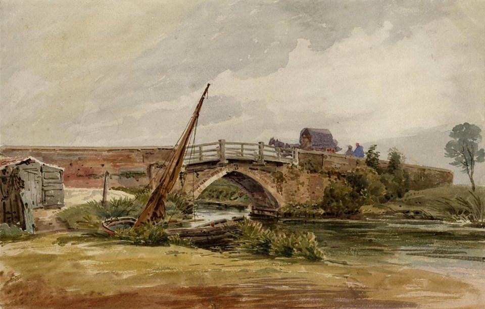 Old Coltishall Bridge by John Thirtle