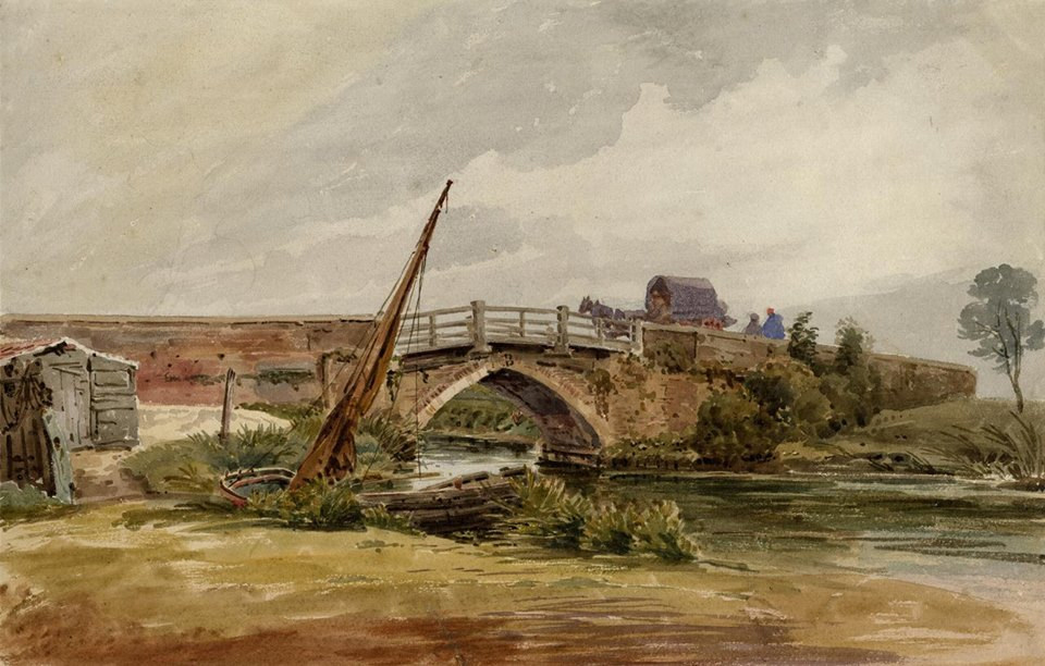 Old Coltishall Bridge by John Thirtle