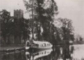 A Pleasure Wherry moored at Lamas Church