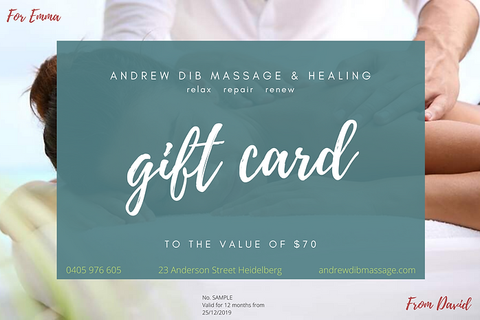 Andrew Dib Massage & Heaing Gift Card