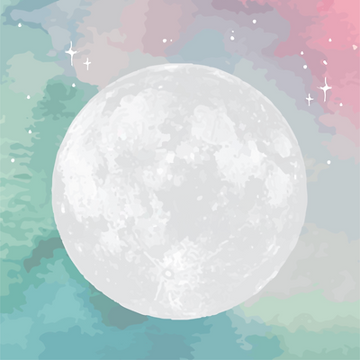 doula stories moon background 50% lighte