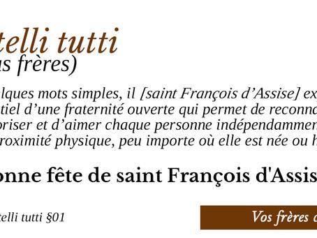 François d'Assise dans « fratelli tutti »