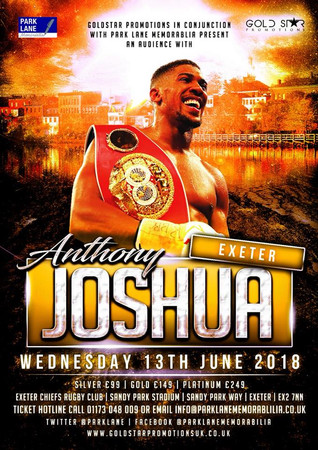 """Tim Caple with """"An Evening with Anthony Joshua"""""""