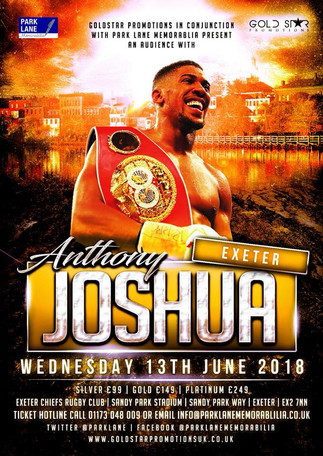 "Tim Caple with ""An Evening with Anthony Joshua"""