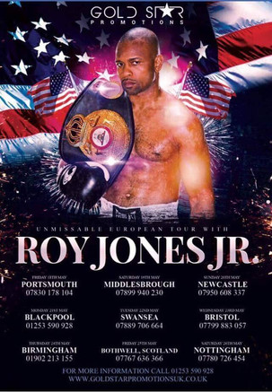 Roy Jones Jnr UK Tour 2018