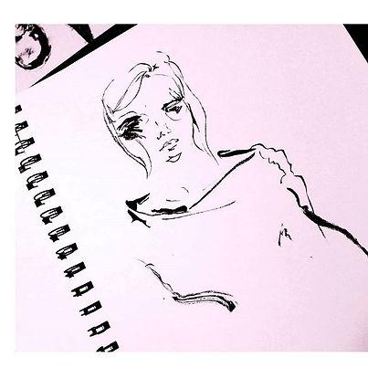 Sumi ink painting artwork by JENEM
