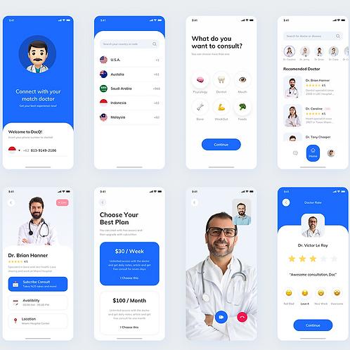 10 screens - Mobile App  UI Design Services