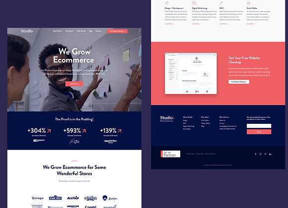 Unique Home page + 2 inner page Design services