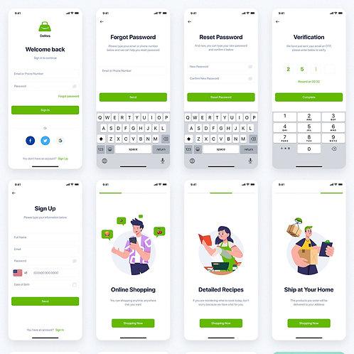 20 screens - Mobile App  UI Design Services