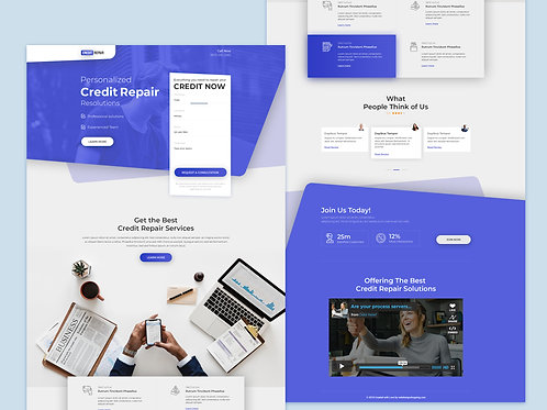 One High Converting Landing Page Design service