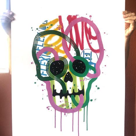 """""""Calavera de colores 26"""""""