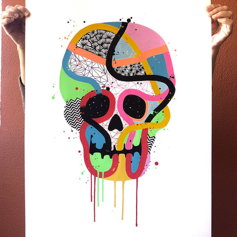 """""""Calavera de colores 15"""""""