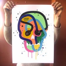 """""""Calavera de colores 19"""""""