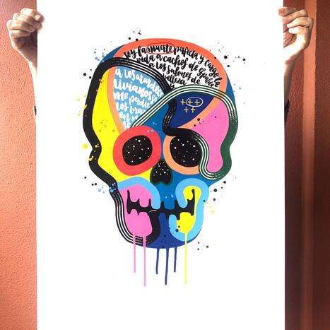 """""""Calavera de colores 31"""""""