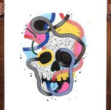 """""""Calavera de colores 10"""""""