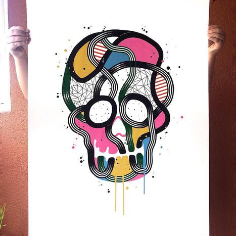"""""""Calavera de colores 11"""""""