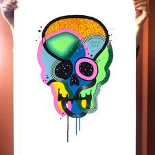 """""""Calavera de colores 33"""""""