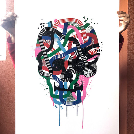 """""""Calavera de colores 3"""""""