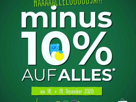 Bald ist Weihnachten: -10% auf ALLES*