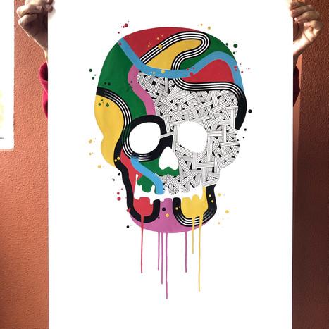 """""""Calavera de colores 7"""""""